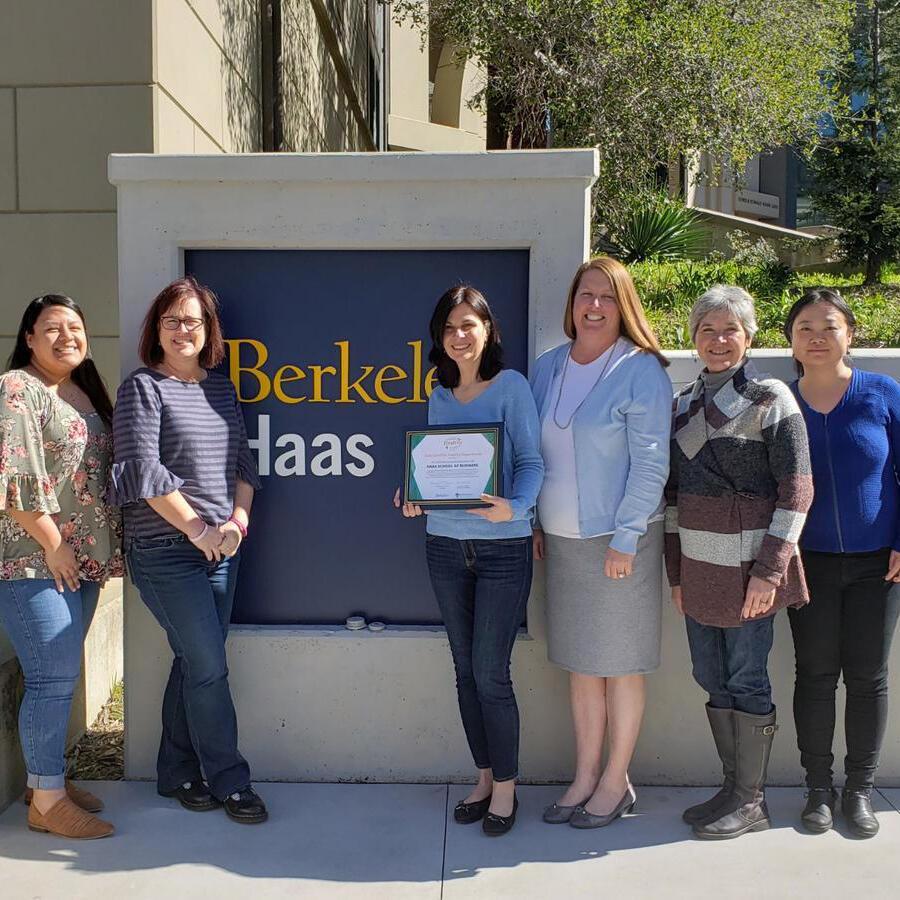 healthy department certification recipients: haas school of business